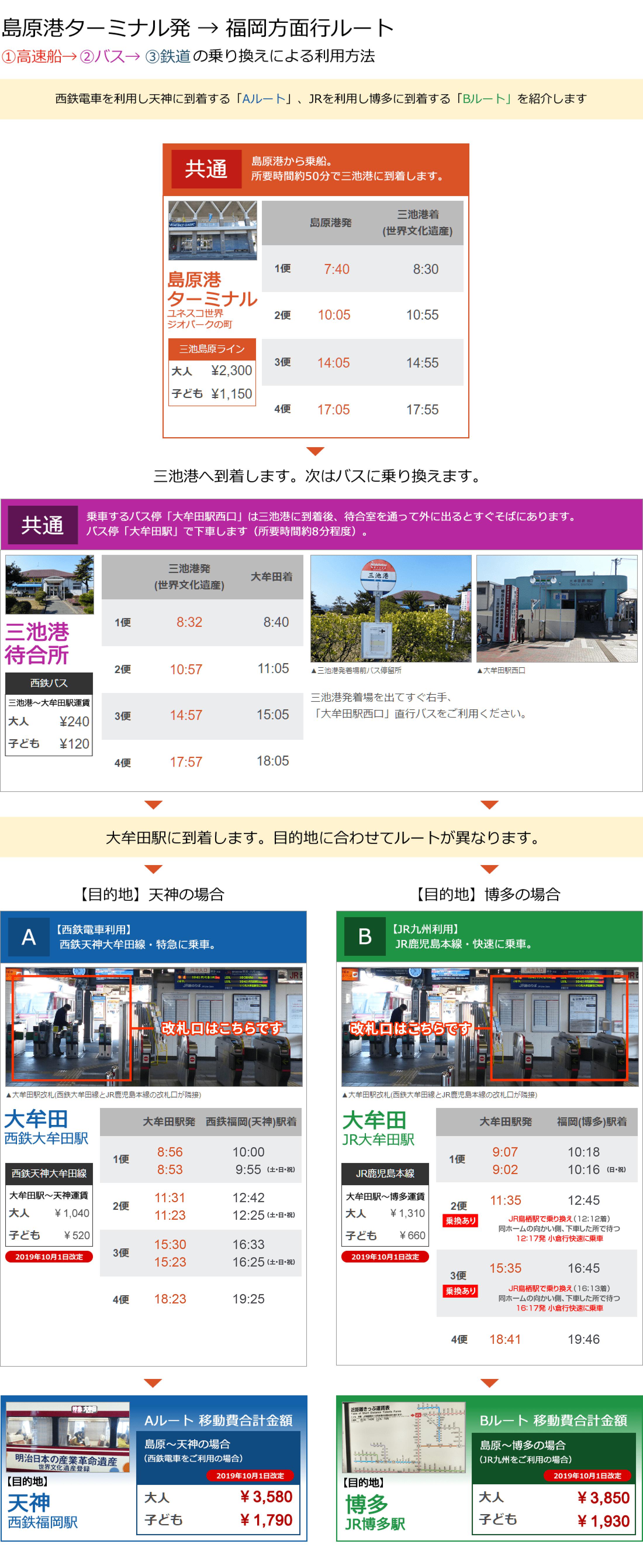 時刻表(福岡→島原)