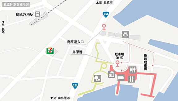 島原外港詳細地図